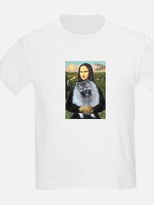 Mona Lisa / Keeshond (F) T-Shirt