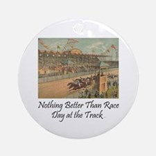 TOP Horse Racing Round Ornament