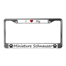 White I Love My Miniature Schnauzer Frame