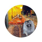 Cafe / Keeshond (F) Ornament (Round)