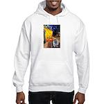 Cafe / Keeshond (F) Hooded Sweatshirt
