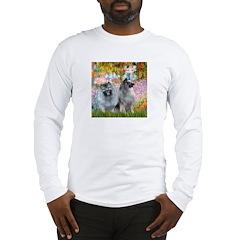 Garden / Two Keeshonds Long Sleeve T-Shirt