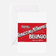 Vintage Luggage Labels Greeting Card
