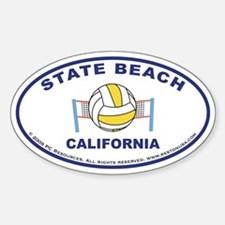 State Beach Sticker2 (blue)