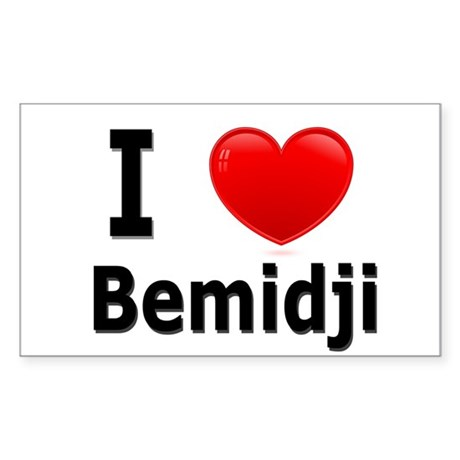 I Love Bemidji Rectangle Sticker
