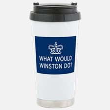 What Would Winston Do? Stainless Steel Travel Mug