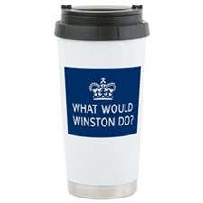 What Would Winston Do? Travel Mug