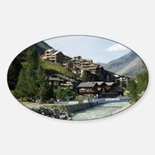 Zermatt Switzerland Oval Decal