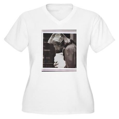 princess di 2 Women's Plus Size V-Neck T-Shirt