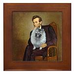 Lincoln / Keeshond (F) Framed Tile