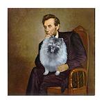 Lincoln / Keeshond (F) Tile Coaster