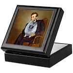 Lincoln / Keeshond (F) Keepsake Box