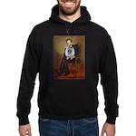Lincoln / Keeshond (F) Hoodie (dark)
