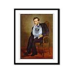 Lincoln / Keeshond (F) Framed Panel Print