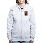 Lincoln / Keeshond (F) Women's Zip Hoodie