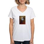 Lincoln / Keeshond (F) Women's V-Neck T-Shirt