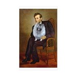 Lincoln / Keeshond (F) Sticker (Rectangle 10 pk)