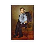 Lincoln / Keeshond (F) Sticker (Rectangle 50 pk)