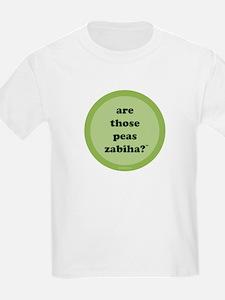 Zabiha Peas Kids T-Shirt (light green)