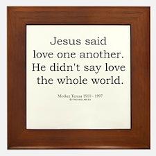 Mother Teresa 6 Framed Tile