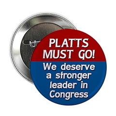 Todd Platts Must Go political button
