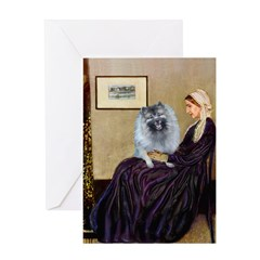 Mom's Keeshond (F) Greeting Card