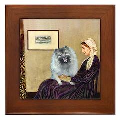 Mom's Keeshond (F) Framed Tile