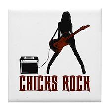 Chicks Rock Tile Coaster