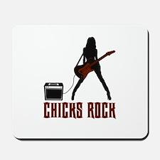 Chicks Rock Mousepad