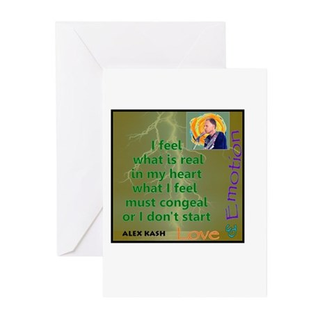 I Feel What Is Real Greeting Cards (Pk of 10)