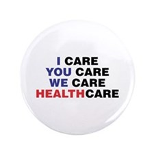 "Cute Pro healthcare reform 3.5"" Button"
