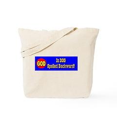 GOD Is DOG Spelled Backward Tote Bag
