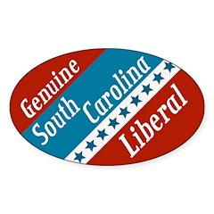 Genuine South Carolina Liberal bumper sticker