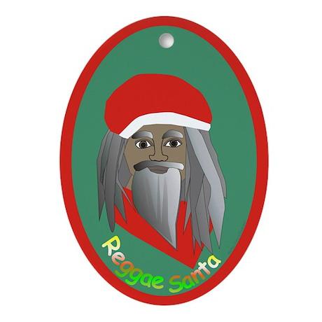 Reggae Santa /Oval Ornament
