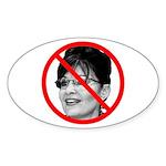 Anti Sarah Palin Oval Sticker (10 pk)