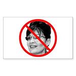 Anti Sarah Palin Rectangle Sticker