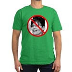 Anti Sarah Palin (Front) Men's Fitted T-Shirt (dar