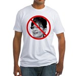 Anti-Obama No Experience (Front) Fitted T-Shirt