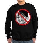 Anti Sarah Palin (Front) Sweatshirt (dark)