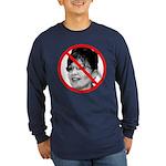Anti Sarah Palin (Front) Long Sleeve Dark T-Shirt