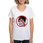 Anti Sarah Palin (Front) Women's V-Neck T-Shirt