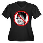 Anti Sarah Palin (Front) Women's Plus Size V-Neck