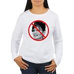 Anti Sarah Palin (Front) Women's Long Sleeve T-Shi