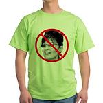 Anti Sarah Palin (Front) Green T-Shirt