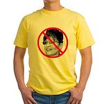 Anti Sarah Palin (Front) Yellow T-Shirt
