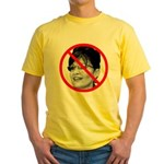 Anti Sarah Palin Yellow T-Shirt