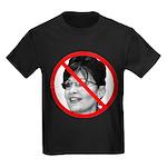 Anti Sarah Palin (Front) Kids Dark T-Shirt