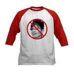 Anti Sarah Palin (Front) Kids Baseball Jersey
