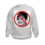 Anti Sarah Palin (Front) Kids Sweatshirt