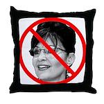Anti Sarah Palin Throw Pillow